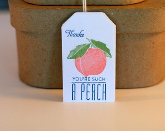Thank you favor tags, Wedding favor thank you tag, tags, Peach weddings, Peach thank you tag