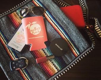 Serape Bag/Mexican Blanket/Crossbody Bag/Messenger Bag/Serape Purse/Grey