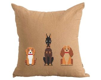 PATTERN: Dogs, Set of 3, Modern Cross Stitch Pattern, Cute Cross Stitch Pattern, Instant Download PDF