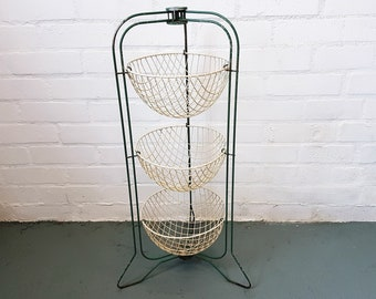 mid century HAPPYMAID vegetable storage rack
