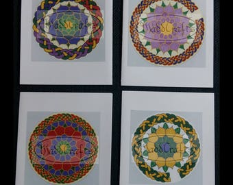 Celtic Knotwork Floral Mandala All Occasion Greeting Note Cards