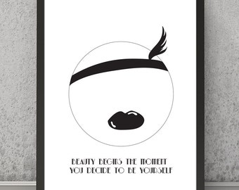Chanel quote print, wall art, quote print, quote poster, wall decor, inspirational quote, inspirational print, inspirational wall art