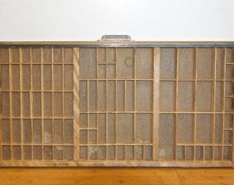 Vintage letter press drawer…type set drawer…print press drawer…wood block letter drawer.