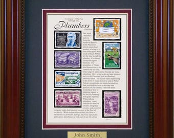 Plumber 3552 - Personalized Framed Collectible (A Great Gift Idea)
