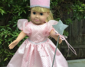 Glinda the Good Witch costume for 18 inch doll