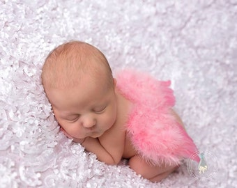 Pink/ Rose Newborn Feather Wings, Angel Wings, Newborn Photography Prop, Baby Wings