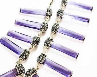Sparkling Purple Necklace