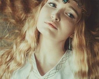 Elf jewelry - Elven diadem - Elven crown - Wedding tiara - Elfish accessory -Elven circlet - Jewelry Diadem - fantasy wedding Nymph