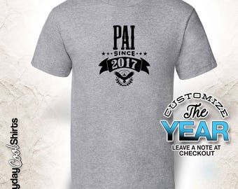 Pai Since (Any Year), Pai Gift, Pai Birthday, Pai tshirt, Pai Gift Idea,
