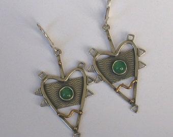 Spike Heart Earrings