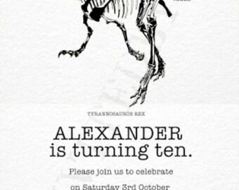 DINOSAUR T REX INVITATION