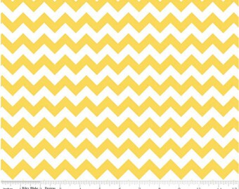Small Chevron Yellow  by Riley Blake Designs Fat Quarter Cut