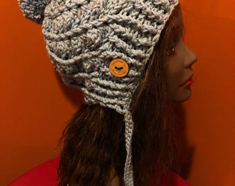 Icy Blue Winter hat