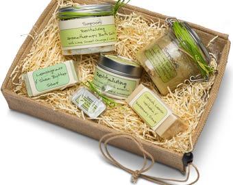 Revitalising Spa Gift Hamper,pamper hamper,spa gift, pamper gift,handmade soap,handmade skincare,natural soap,hamper for her.