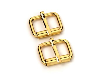 """20pcs - 1/2"""" Roller Pin Belt Buckles - Gold - Free Shipping (ROLLER BUCKLE RBK-101)"""