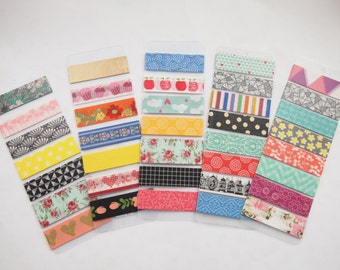 Mixed Washi Tape Samples (8 designs)