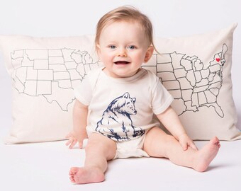 Screen Printed Baby Clothing - Infant One Piece - Baby Clothing - Bear Baby One Piece - Baby Girl - Baby Boy