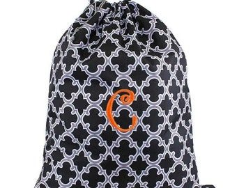 Quatrefoil Laundry Bag, monogram laundry bag, personalized laundry, laundry, laundry basket, drawstring bag, personalized, monogrammed