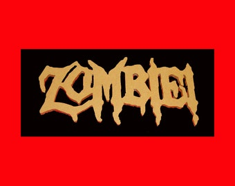 Zombie! Unfinished Mdf Wood Word Mosaic or Paint or Decoupage