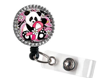 Breast Cancer Badge Reel, Panda Badge Reel, Frog Badge Reel- SALE for the month of February