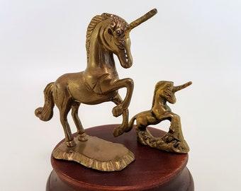 Brass Unicorn Statues   Unicorn Lovers, Mid Century Boho Brass Decor, Brass Mythical Creatures, Brass Unicorns Statues, Unicorn Figurines
