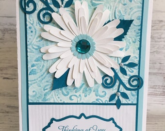 Handmade Sympathy Thinking of You greeting card