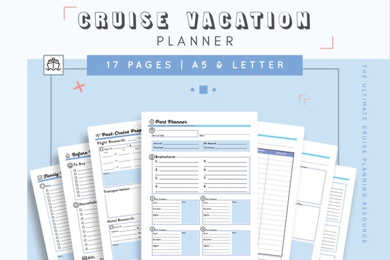 Cruise Planner Travel Agenda Cruise Itinerary Template