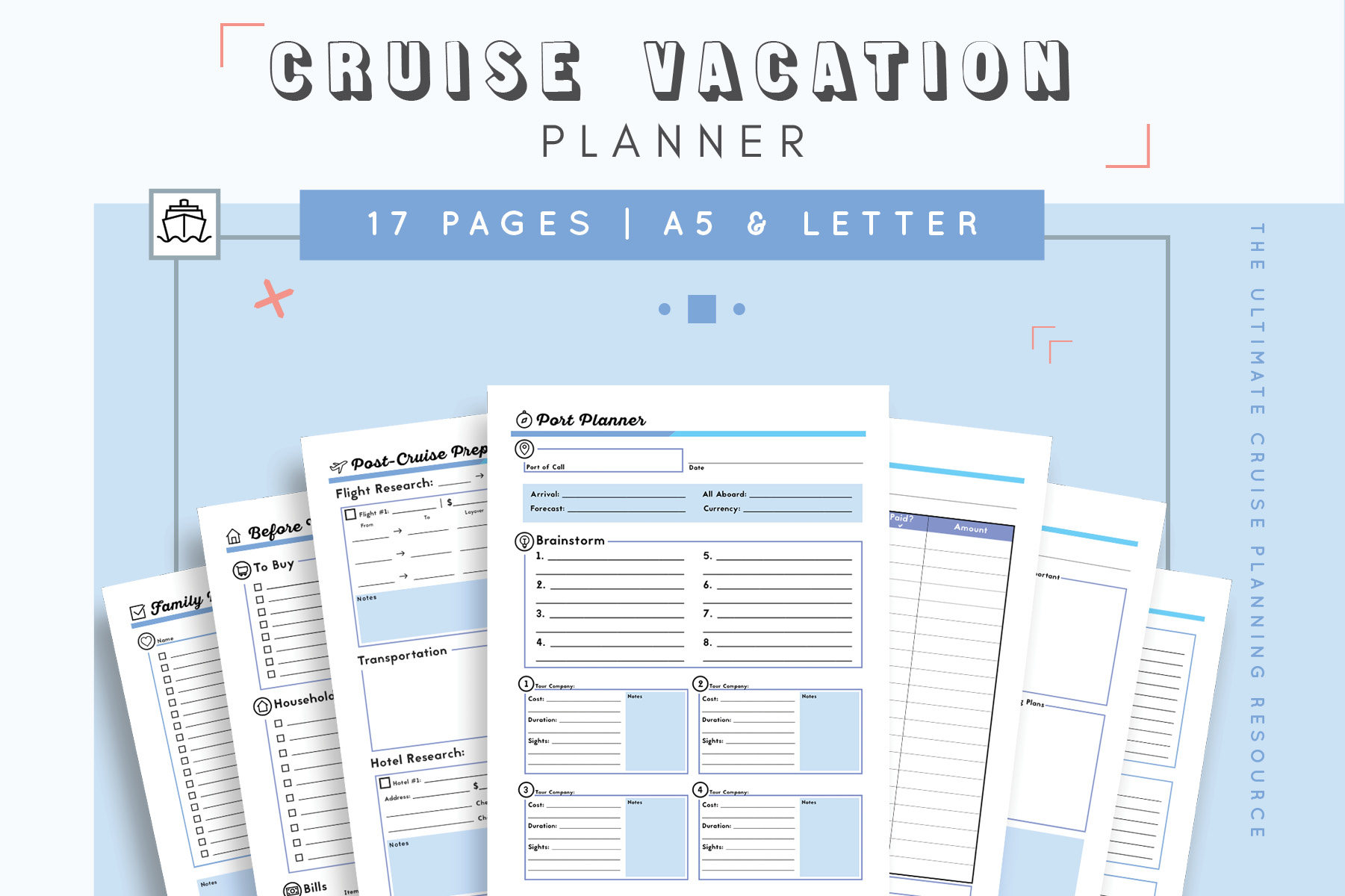 Cruise Planner Travel Agenda Cruise Itinerary Template