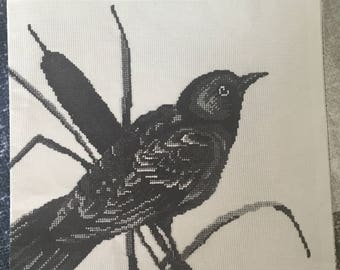 "Jean McIntosh #M-158 ""Oriole"" Petit Point/Cross Stitch CHART ONLY      VINTAGE 1960"