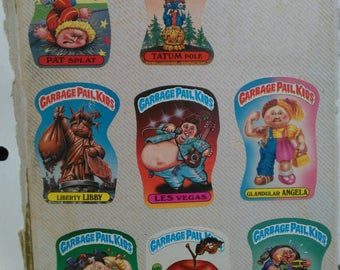 Vintage Garbage Pail Kids Stickers
