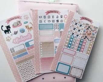 Cute Cats Personal Planner Sticker Kit
