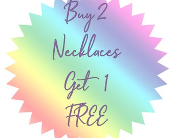 Buy 2 T-Shirt Yarn Necklaces, Get 1 Free