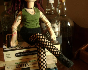 Capitol hill girl, a soft sculpture doll