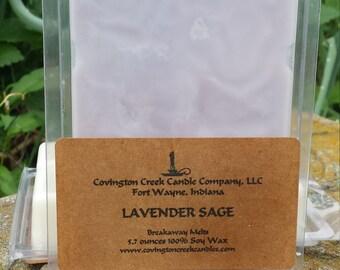 Lavender Sage 6 ounce Soy Breakaway Melt
