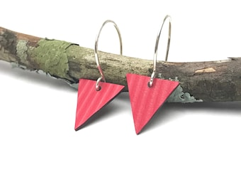 Lil bunting earrings / red