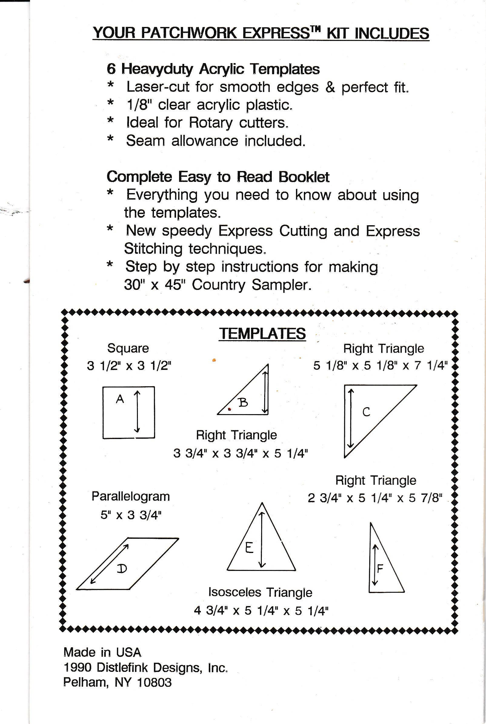 Acolchado plantilla resistente geométrica básica Set láser corte ...