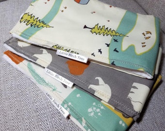Organic Modern Designer Burp Cloths from the Camp Sur Collection by Jay - Cyn from Birch Fabrics