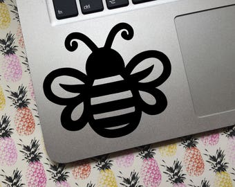 Bumble Bee vinyl decal - CUSTOM - Choose size and color! - Car decal, laptop decal, Bees, Apiary, Apiarist, Beekeeper, Cute Bee, bee stripes