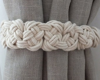 2 pcs Curtain Tie Backs Nursery Curtain Tie Back Gypsy Décor Boho Accessories Rope Curtain Tie Back Curtain Holdback Curtain TieBack