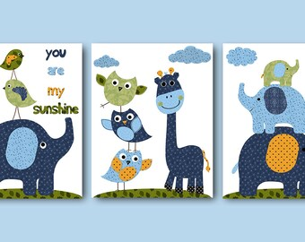 Elephant Nursery Quotes Art Download Baby Boy Nursery Print Baby Print Download Kids Room Printable set of 3 8x10 11X14 INSTANT DOWNLOAD Art