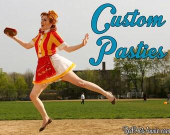 Brand New Style - Custom Pasty Burlesque Pasties Order