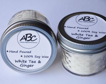 Scented Soy Candle - White Tea & Ginger