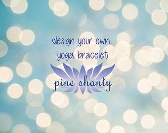 Custom Meditation Bracelet, Minimalist Jewelry, Intent Bracelet Hypoallergenic, Yoga Bracelet, Build Your Own Bracelet