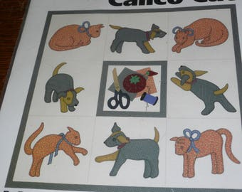 The GinghamDog and the Calico Cat Applique Quilt Pattern by Darcy ashton