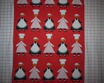 Fabric - RETRO - 70s - Kitchen - Fun - Chef -