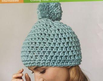 Quick Pompom Hat Crochet Pattern