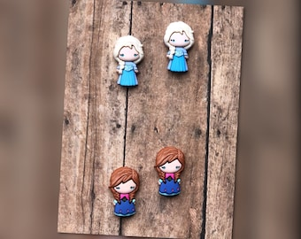 Free Shipping! Disney's Frozen Elsa and Anna Earrings