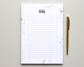 To Do List - A5 notepad - Marble Notepad - Weekly Planner Pad - Stationery Gift | gifts for her