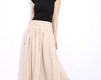 Long skirt, linen skirt, Maxi Skirt, womens skirts, beige skirt, long linen skirts, maxi skirt beige, plus size skirt, beige skirt (C325)