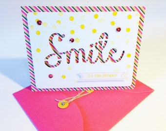 Handmade Smile Birthday Card